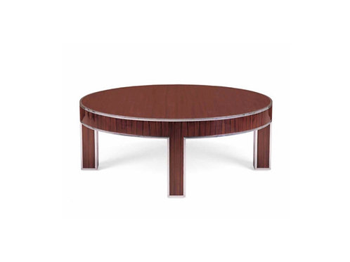 Polished Stainless Steel and Rosewood Coffee Table