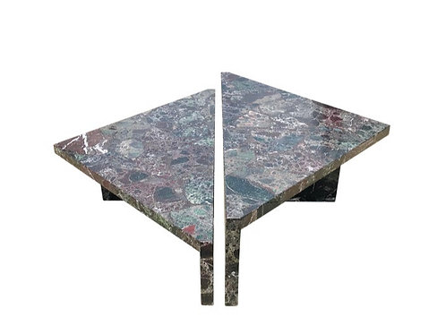 Post-Modern Italian Marble Coffee Table - 2 Pieces