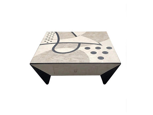 Contemporary Modern Tessellated Marble Tavola Oggetti Style Coffee Table