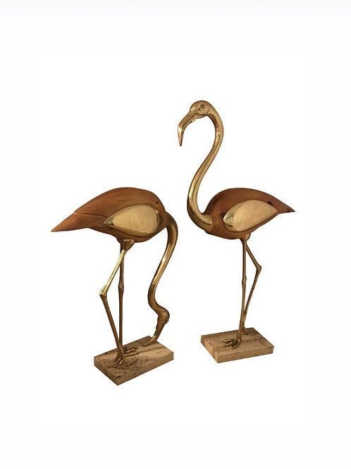 1970s Life-Size Stylized Flamingo Scuptures - a Pair