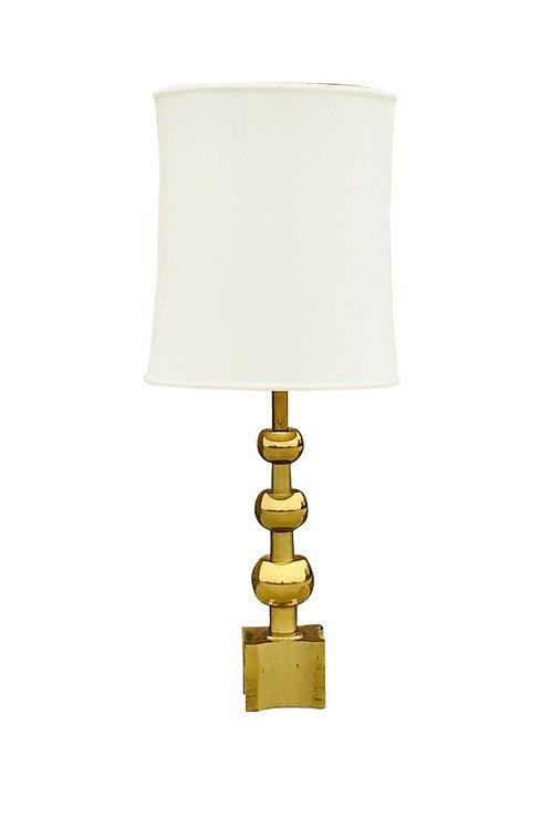 1960s Tommi Parzinger Iconic Mid-Century Stiffel Brass Ball Regency Table Lamp