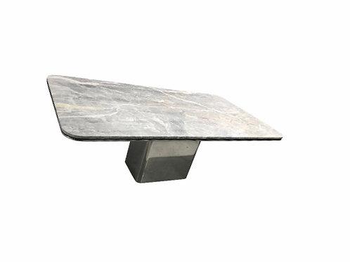 "1980s Modern Brueton Rectangular Marble ""Anello"" Table"
