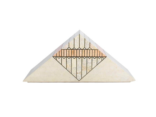 1980s A Casa Bique Designed Tessellated Stone Pyramid Box