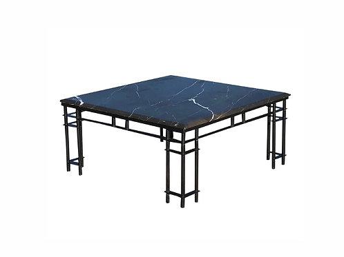 "1980s Postmodern ""Atilla Square Marble Coffee Table"
