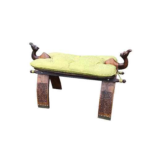 Late 20th Century Moroccan Camel Saddle Stool