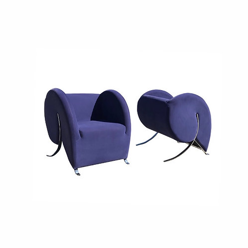 "1990s Virgola ""Comma"" Chairs Designed by Yaakov Kaufman"