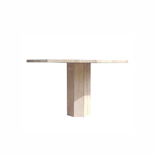 1970s Mid-Century Modern Travertine Breakfast/Dining Table