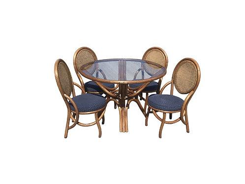 Mid Century Modern Kap-Son Rattan Dining Set