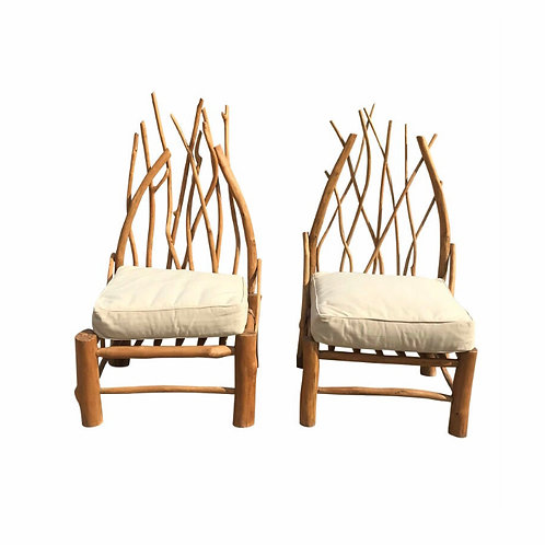 1970s Organic Form Branch Chairs - a Pair