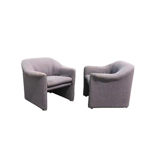 1980s Metropolitan Furniture Company Lounge Chairs - a Pair