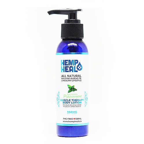 Hemp Heals - Pepermint Muscle Therapy Lotion 360mg