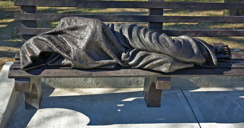 When you see a homeless person, who do you see? Do you really look at them? This statue of Homeless Jesus in Miami, FL helps remind us to open our hearts!