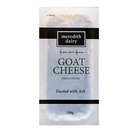 Meredith Dairy / Fresh Goat Cheese or Chevre / Dusted with Ash / 150g