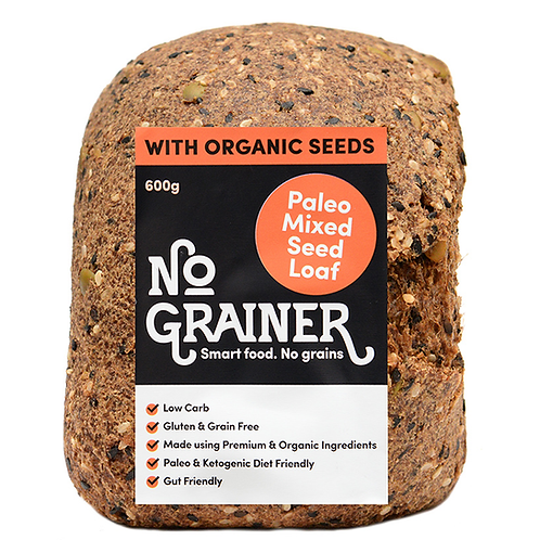 NO GRAINER / Gluten Free / Paleo Mixed Seed Loaf /600g