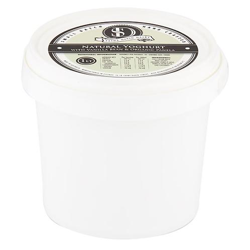 Saint David Dairy / Natural Vanilla Bean & Organic Panela Yoghurt / 1 Litre