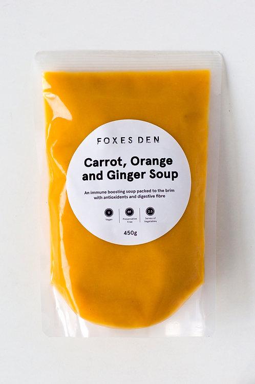 Foxes Den / Carrot, Orange & Ginger Soup (Delivered Frozen)