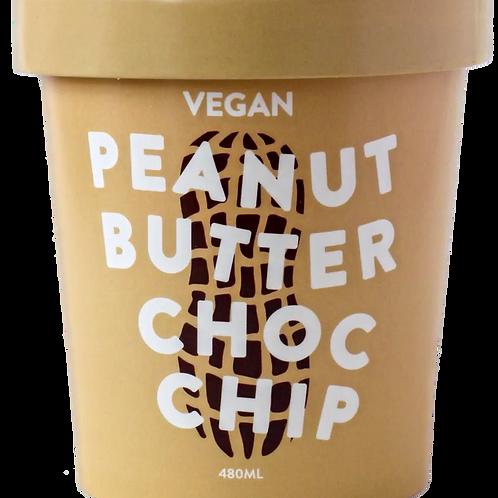 PEANUT BUTTER CHOC CHIP ICE CREAM (480g)