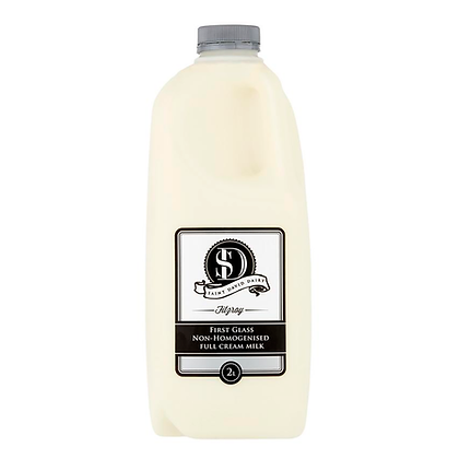 Saint David Dairy / First Glass Non-Homogenised Full Cream Milk / 2L
