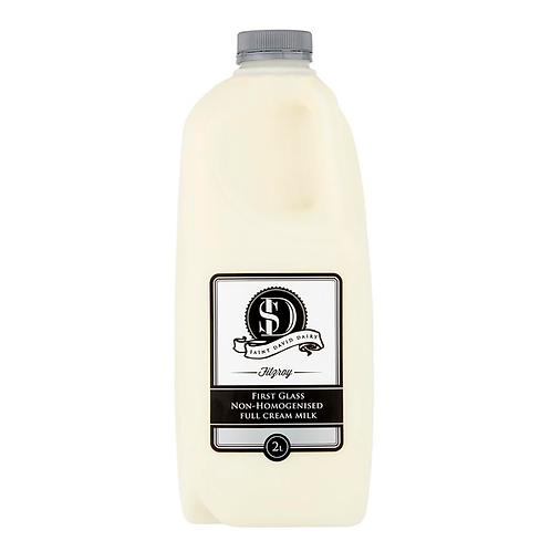 Saint David Dairy / First Glass Non-Homogenised Full Cream Milk / 2L
