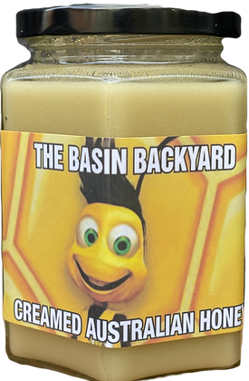 The Basin Backyard / RAW CREAMED HONEY / 500g