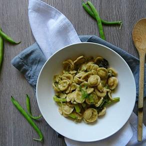 #settimanaVeg contest: orecchiette al pesto di basilico, fagiolini e patate