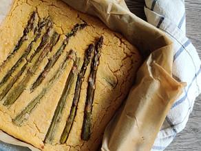 Mangiare di stagione: farinata di ceci & asparagi verdi di Altedo IGP
