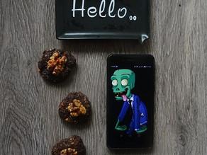Frollini degli zombie: cacao e noci