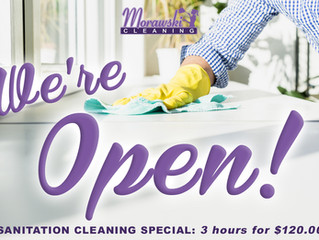 Now booking house cleanings!
