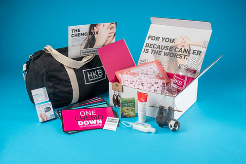 The Get Through Chemo gift box for women going through chemo treatments for cancer