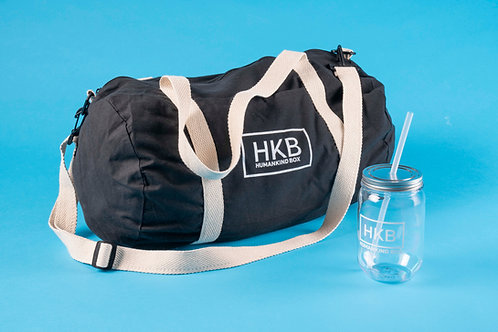 Lightweight Cotton Weekend Tote for Cancer and Water Bottle