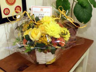 オープン記念のお花をいただきました!
