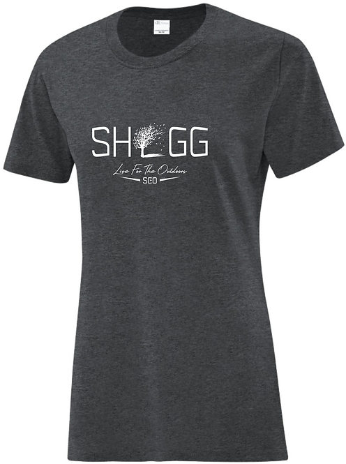 Ladies Charcoal Tee - Outdoor Life - Choose your Logo