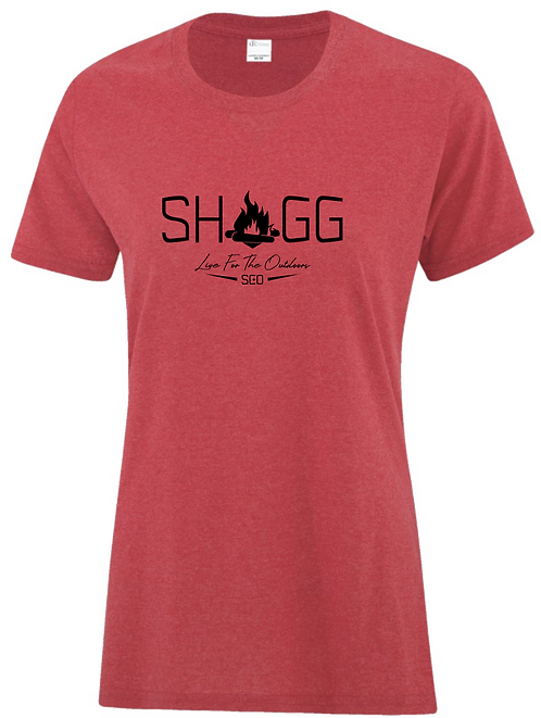 Ladies Red Tee - Outdoor Life - Choose your Logo
