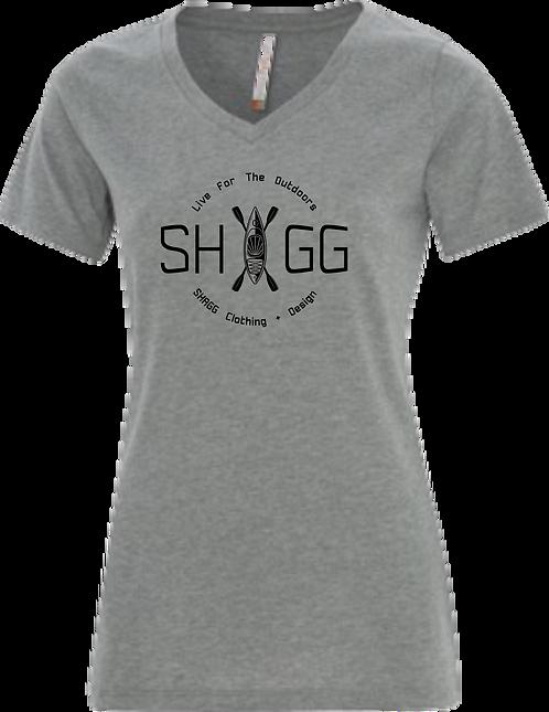 Ladies Grey V-Neck - Choose your Logo