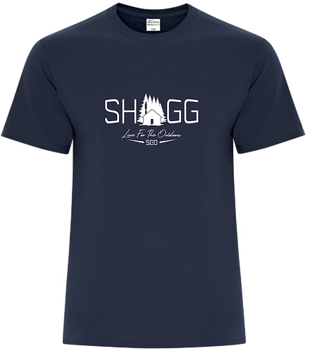 Unisex Navy Tee - Outdoor Life - Choose your Logo