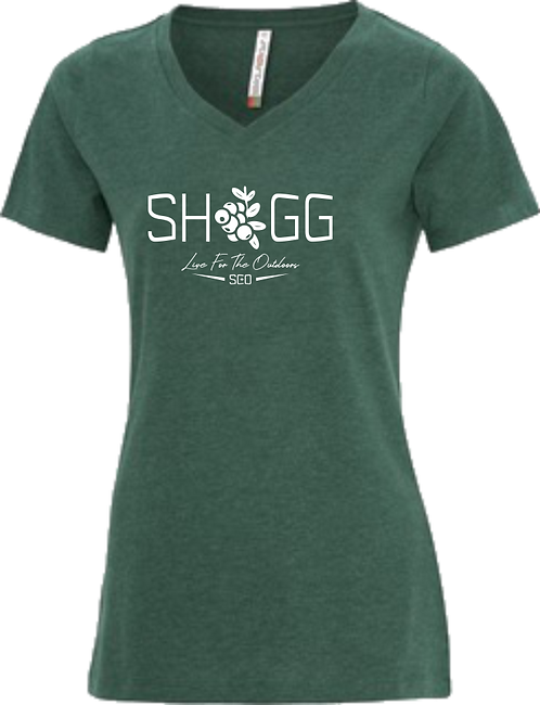 Ladies Forest V-Neck, Outdoor Life - Choose your Logo
