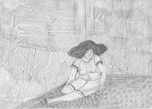 Hún var sett í skjól fyrir utanaðkomandi áreiti