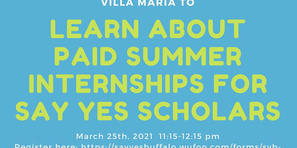 Informational Session for Villa Maria Achieve Program