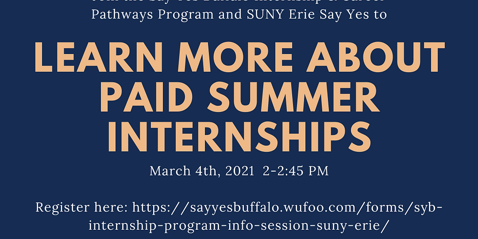 Information Session for SUNY Erie Community College