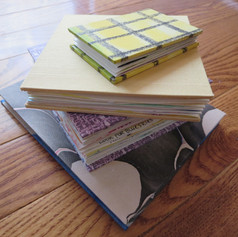 Stack of handmade books