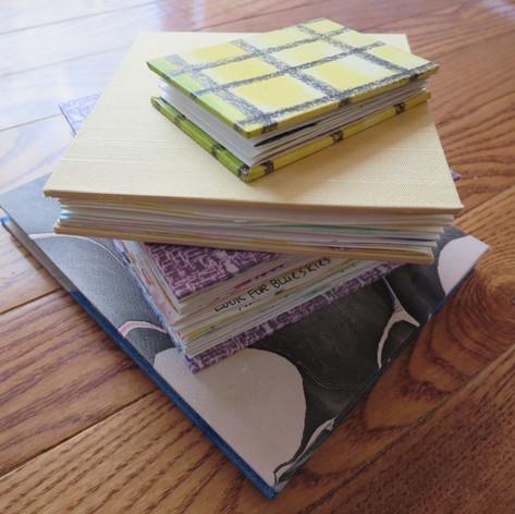 Stack of handmade books