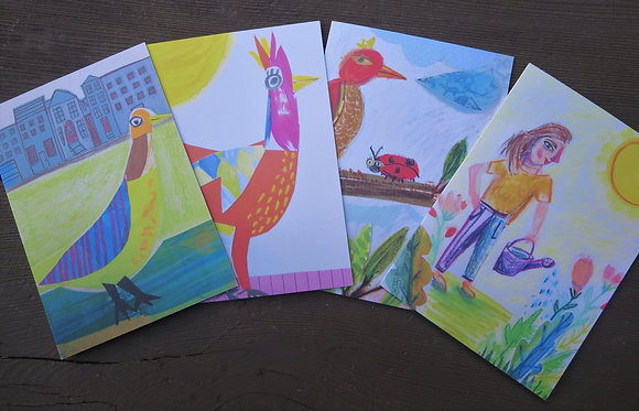 Birds and Gardener Card Packs