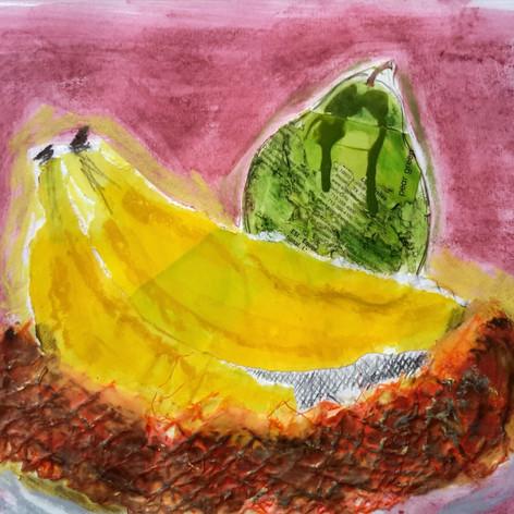Fruit bowl collage