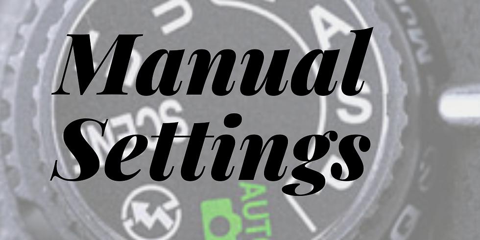 Manual Settings 3 sessions