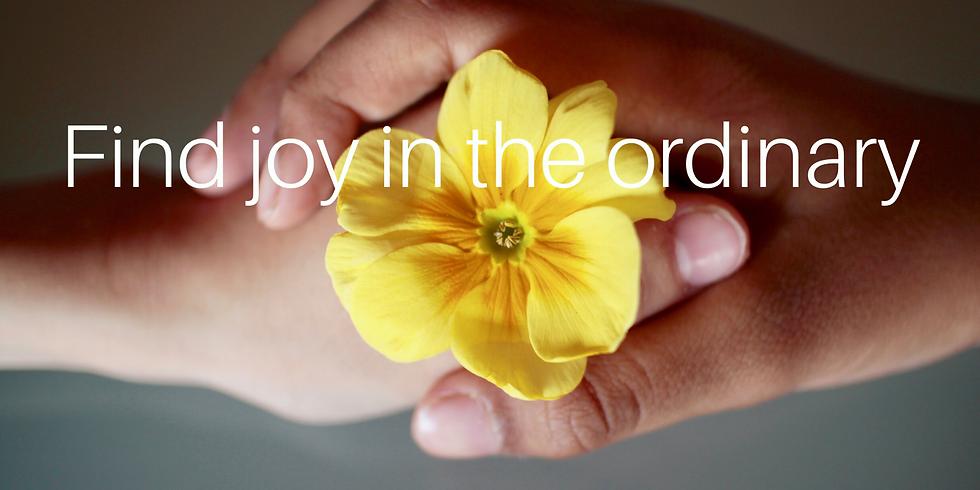 Find JOY in the ordinary-4 sessions