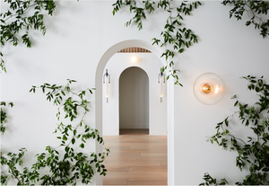 arched doorways, wall vines