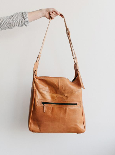 leather crossbody carry all