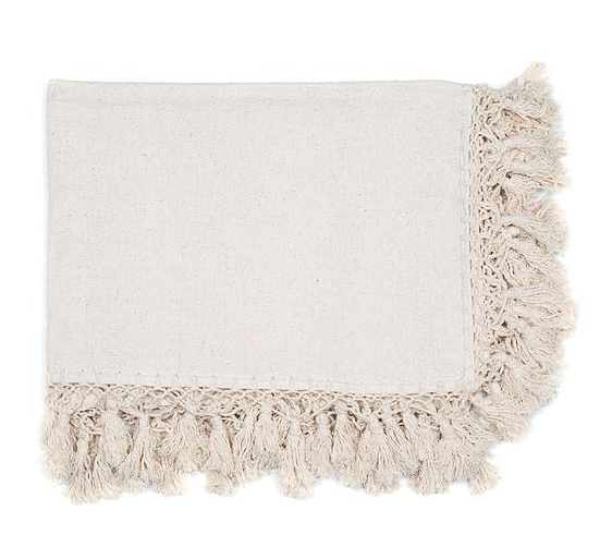 cotton tassel blanket