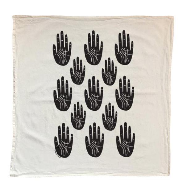 cotton tea towel with palms