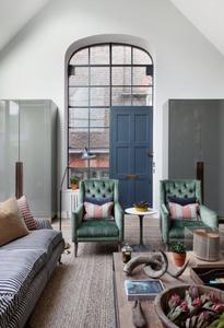 arched window with door